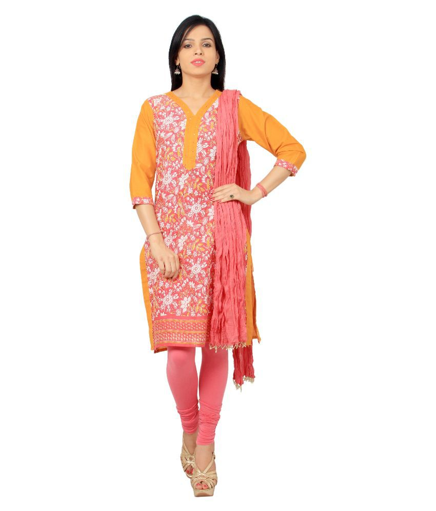 Rama Multicoloured Cotton Straight Fit Stitched Salwar Suit