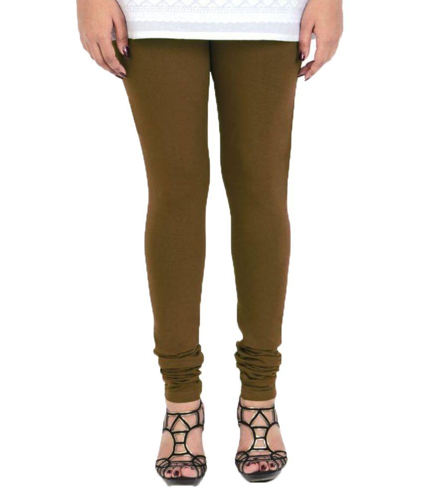 Vami Green Cotton Lycra Leggings