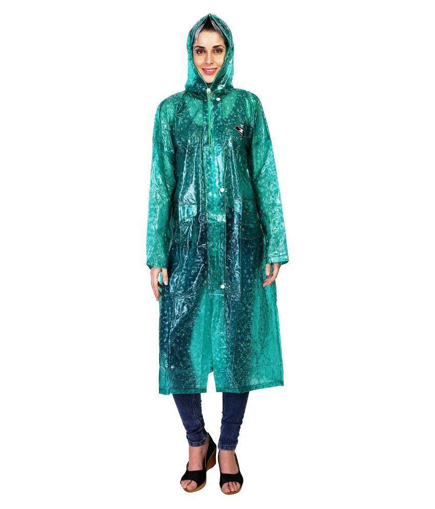 Zeel Green Waterproof Long Raincoat