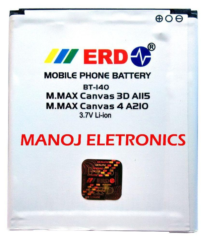 ERD 1500mAh Mobile Battery (For Micromax Canvas A210)