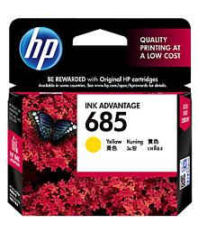 HP 685 Yellow Ink Cartridge For HP Inkjet, Deskjet Printer