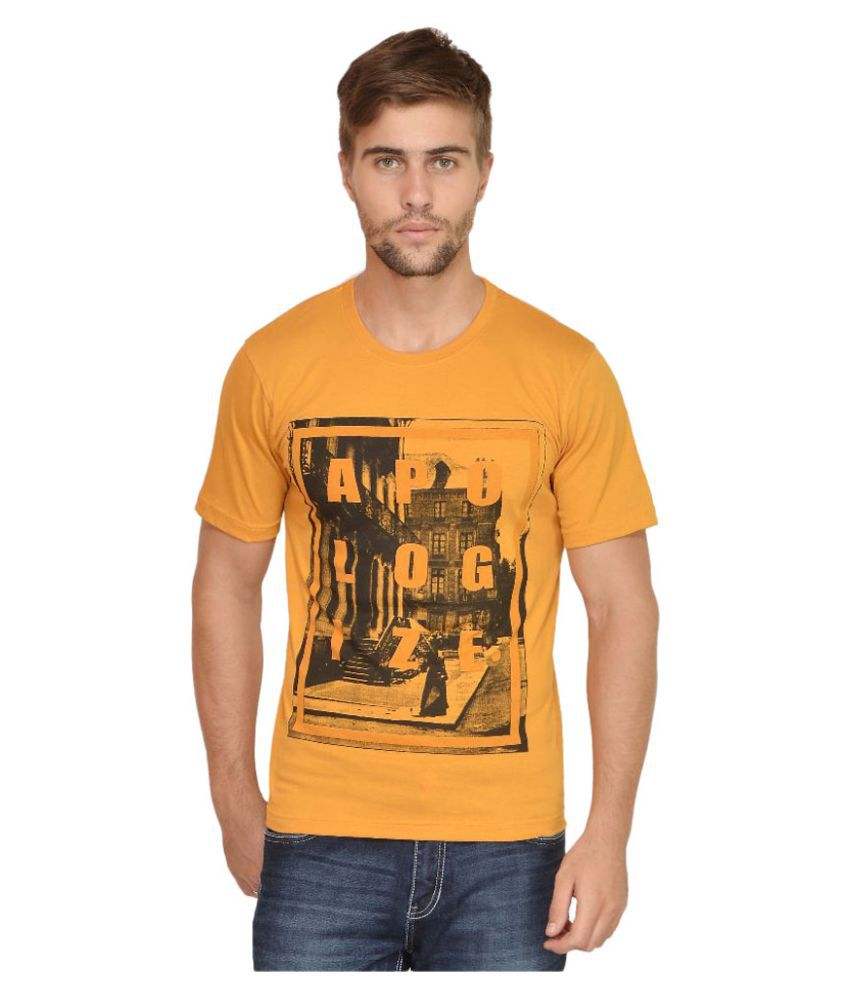Urban Colors Orange Round T Shirt
