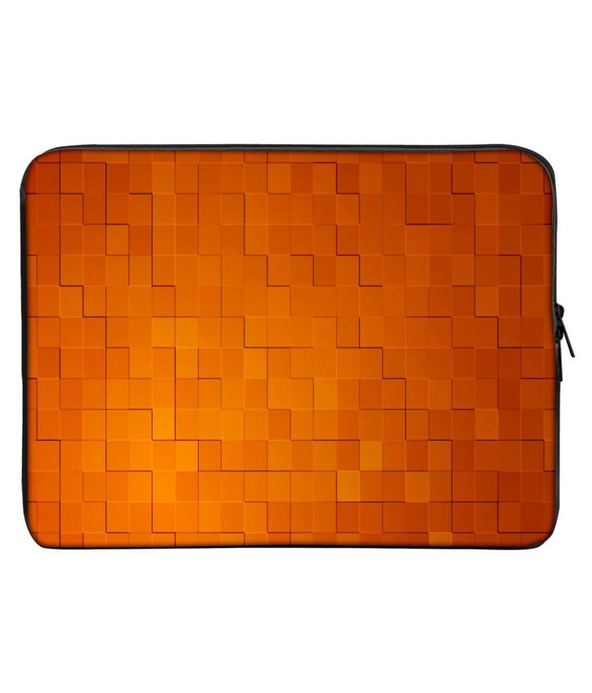 Panda Creation PC_437 Orange Polyester Laptop Sleeve