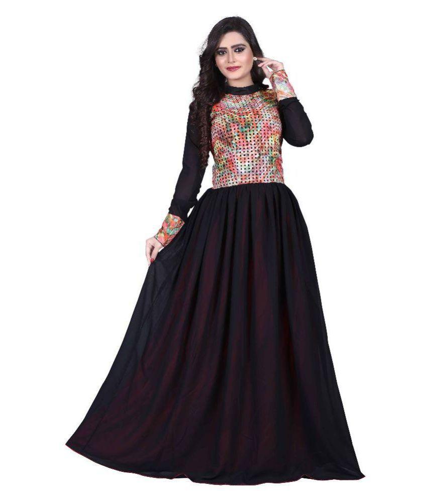 Shoppershopee Black Cotton Gowns - Buy Shoppershopee Black Cotton ...