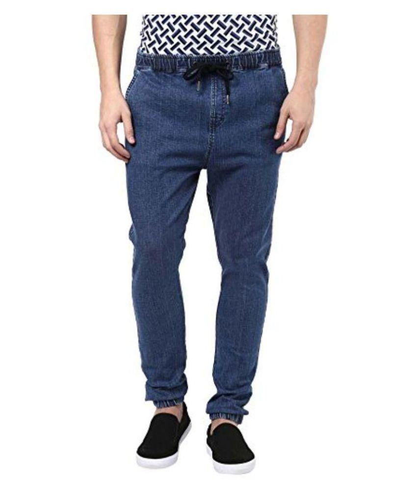 Zain Apparels Blue Regular Fit Jogger Jeans