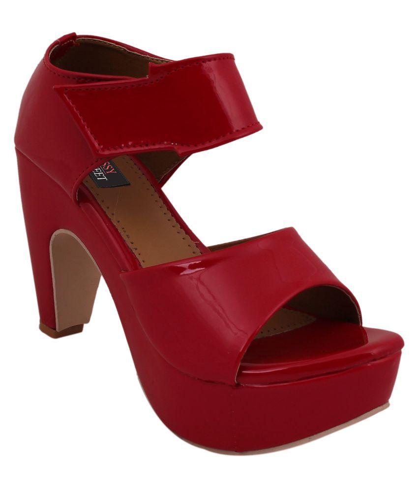 Classy Feet Red Cone Heels