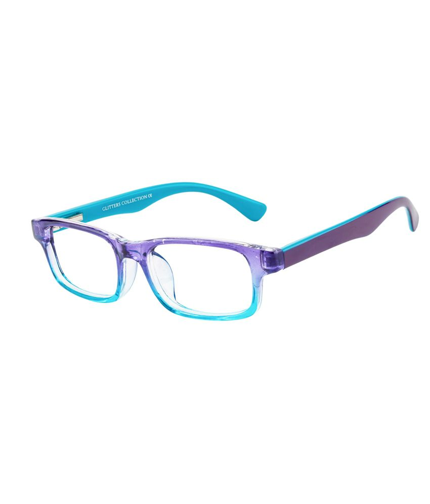 Glitters Blue Rectangle Spectacle Frame ( B1225C8-6 )