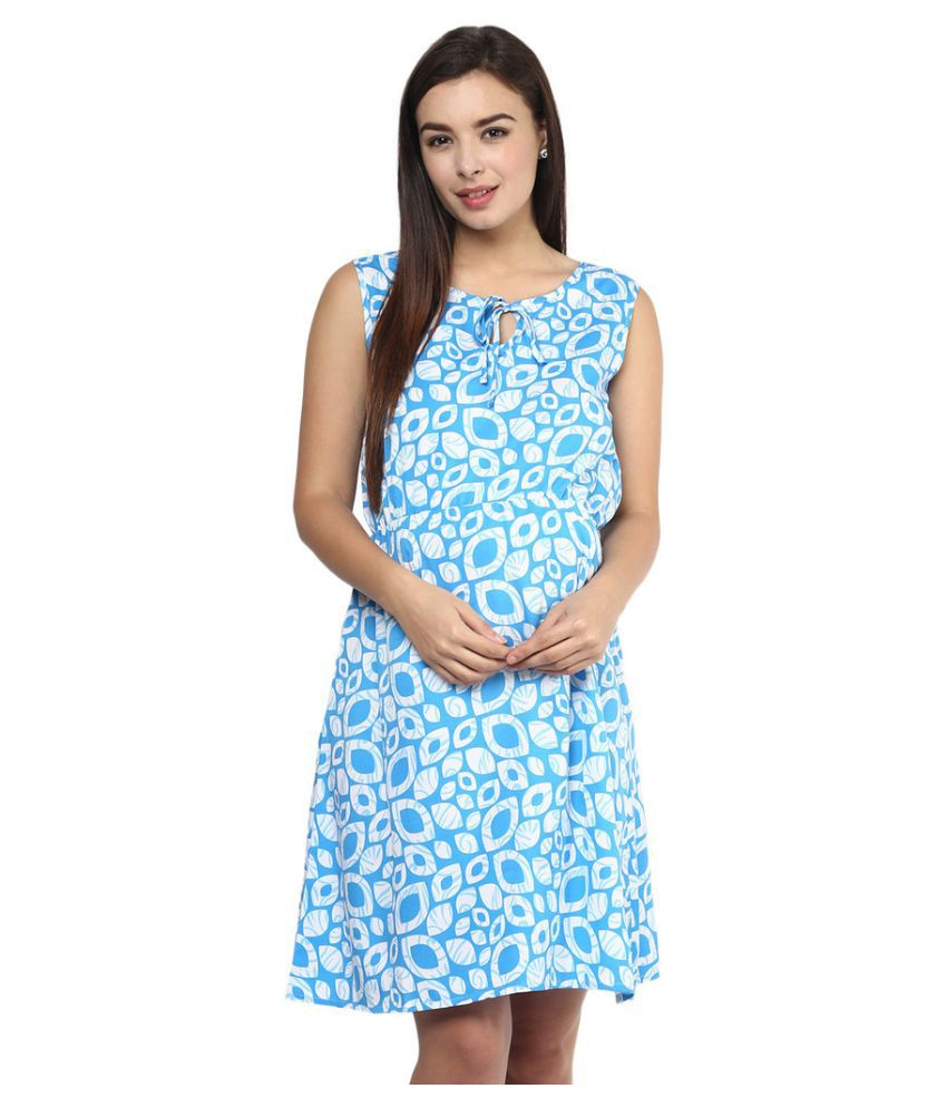 Mine4nine Blue Polyester Maternity