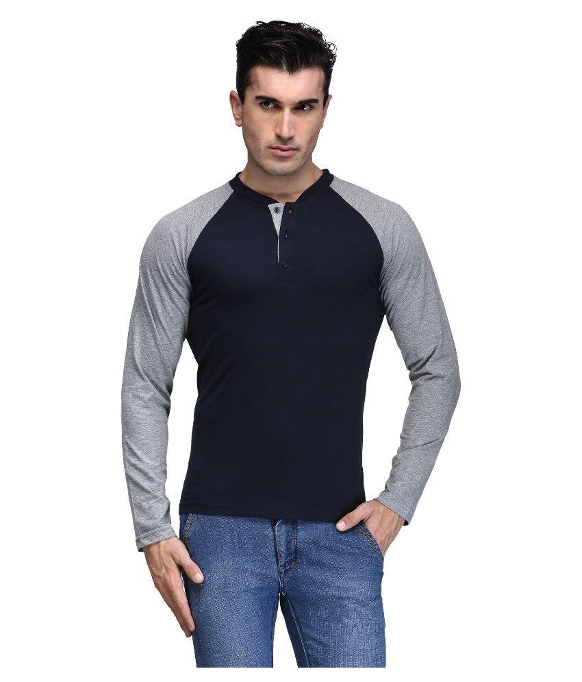 TSX Navy Henley T Shirt