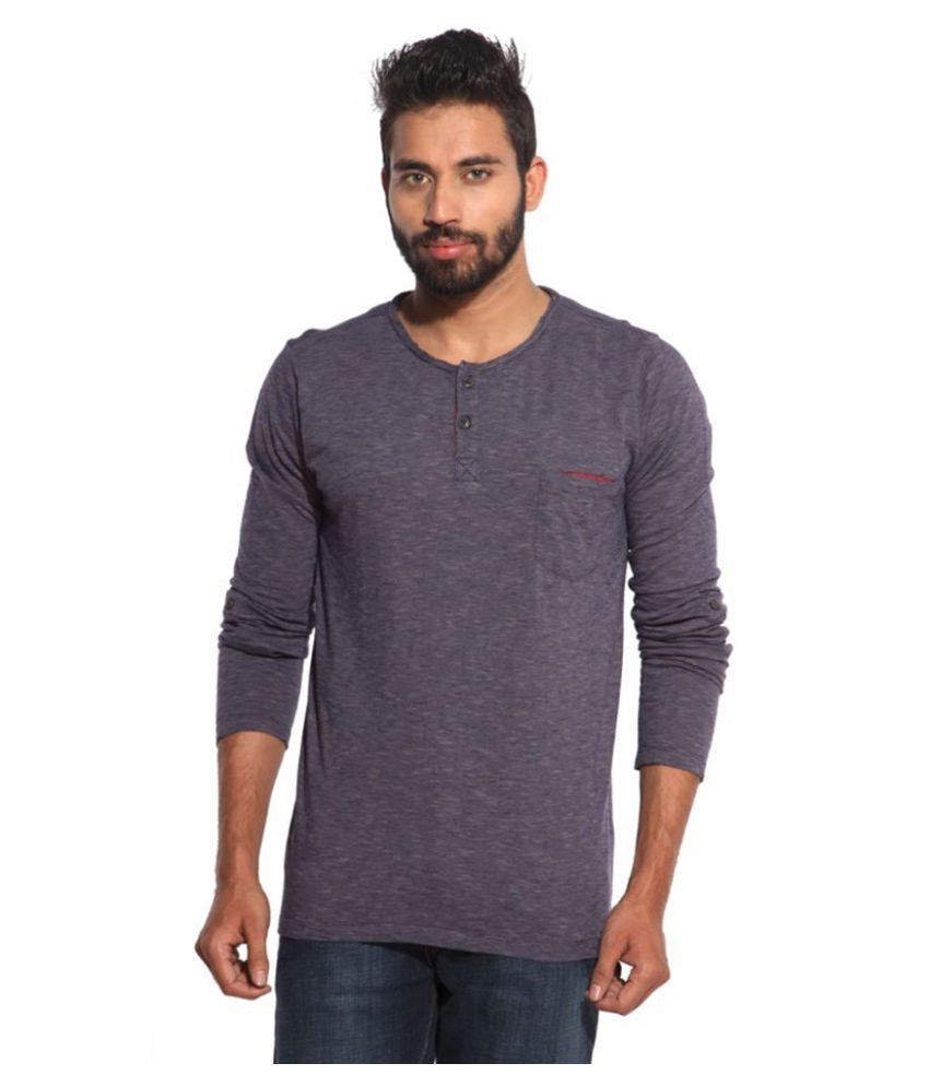 Inego Purple Henley T Shirt Pack of 2