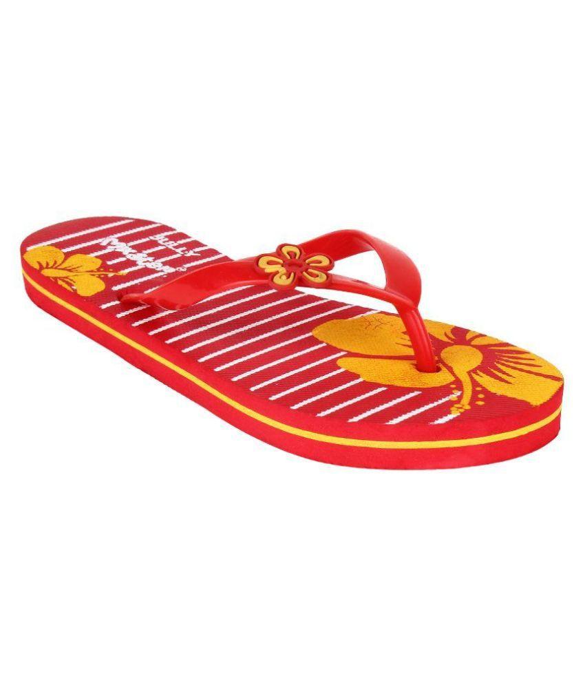 Oricum Footwear Red Flip Flops
