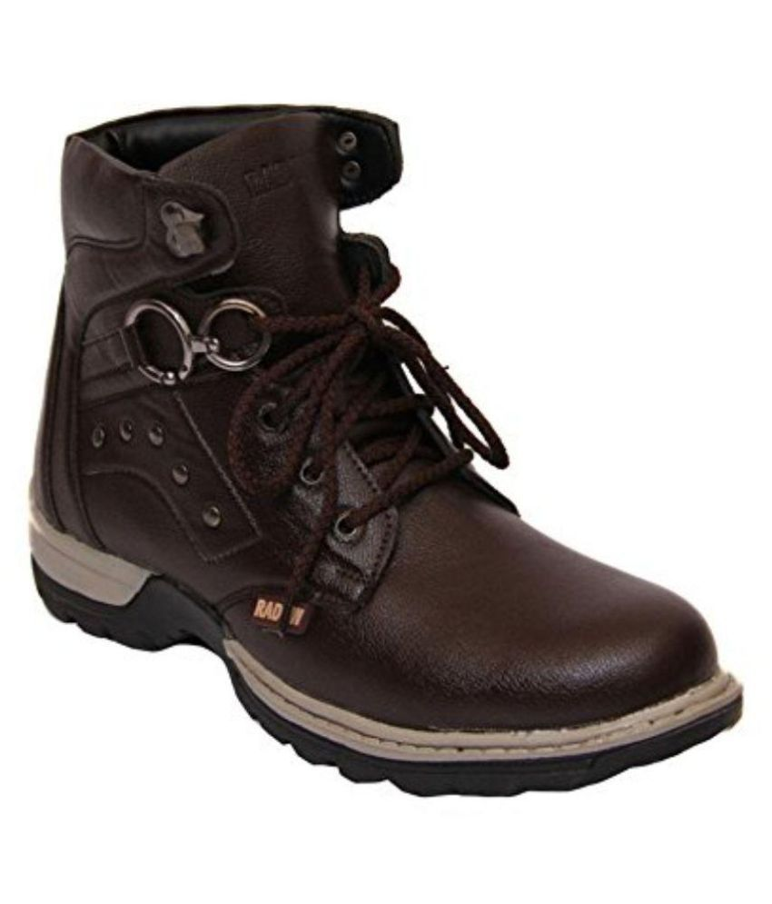 Vogue Stack Brown Boots