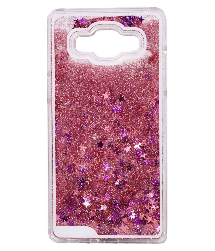 ebdb3a07a3 Bling Stars Liquid Flowing Sparkle waterfall Quicksand Crystal Clear Hard Back  Case Cover for Samsung Galaxy J2- Pink - Printed Back Covers Online at Low  ...