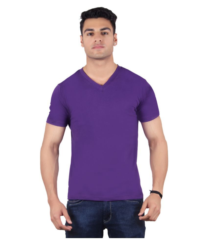 Diaz Purple V-Neck T Shirt