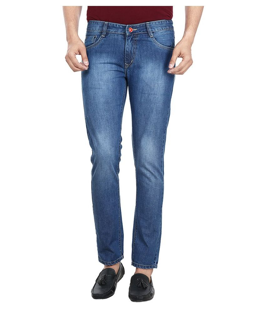 Figlio Blue Slim Fit Solid Jeans