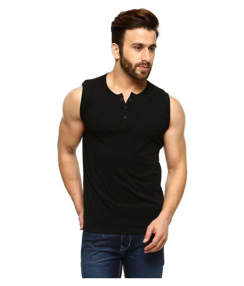 Gritstones Black Henley T Shirt