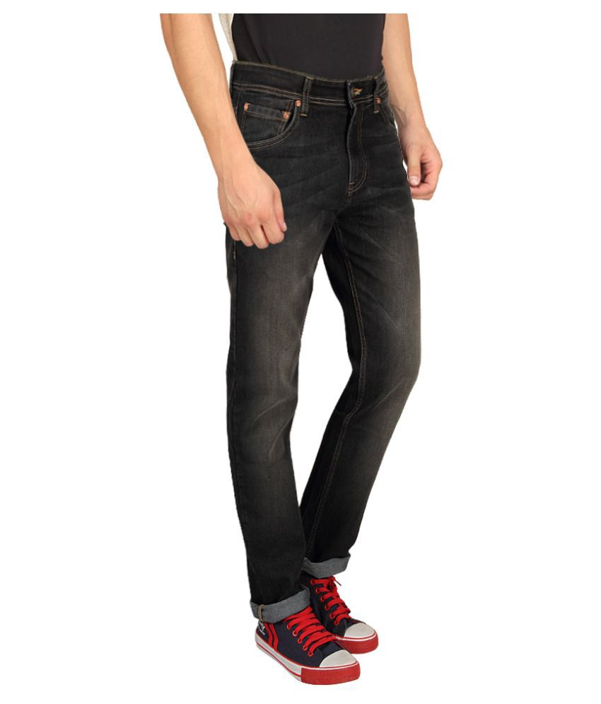 Mens faded black slim jeans – Global trend jeans models