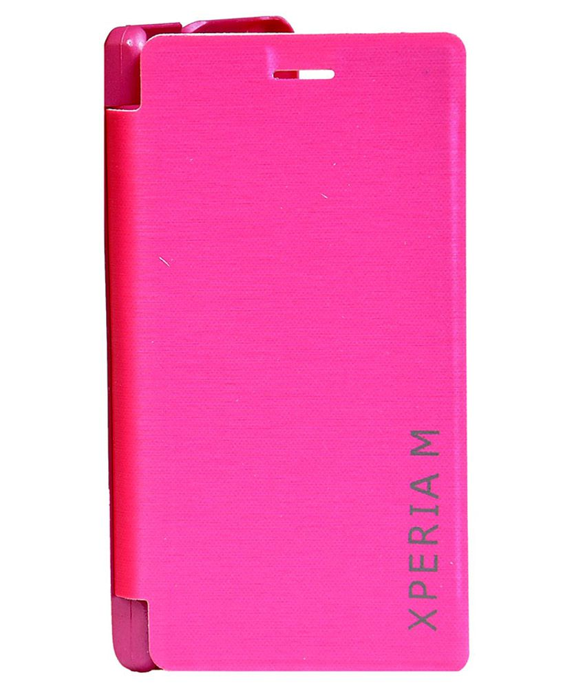 the latest 08caa 23132 Sony Xperia M Flip Cover by FTS - Pink