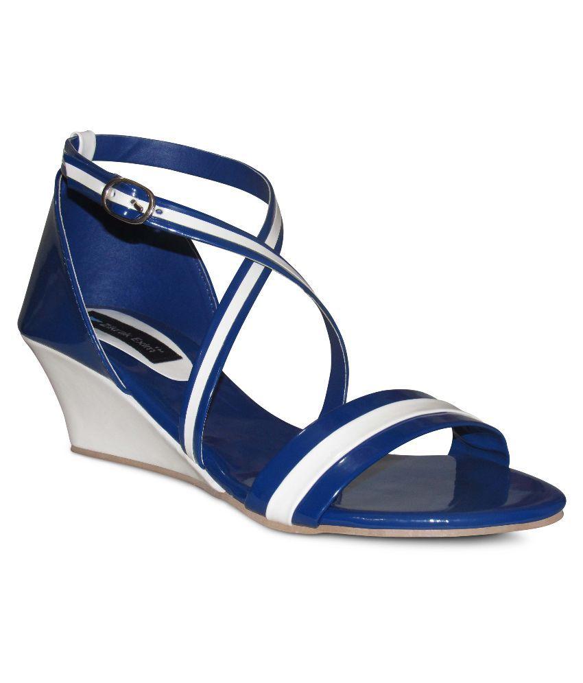 Zikrak Exim Blue Wedges Heels