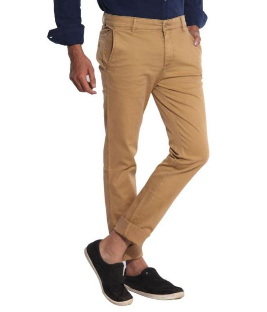 Inego Beige Slim Fit Chinos