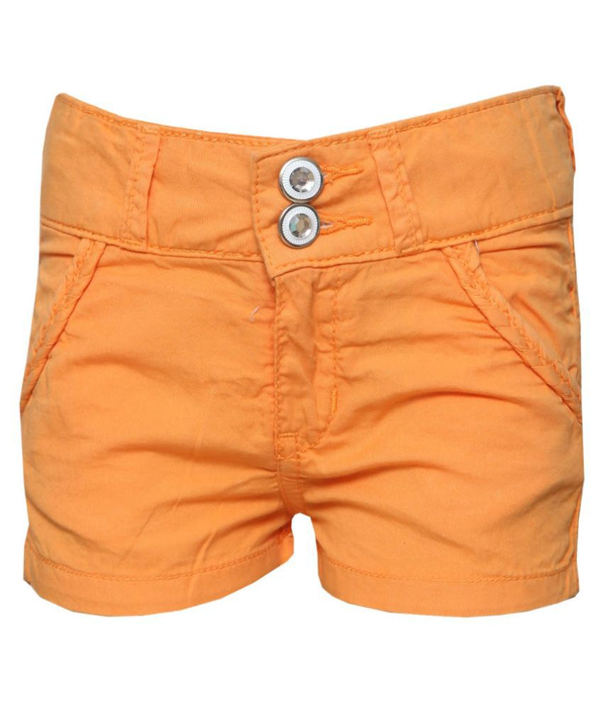 Tales & Stories Orange Denim Short