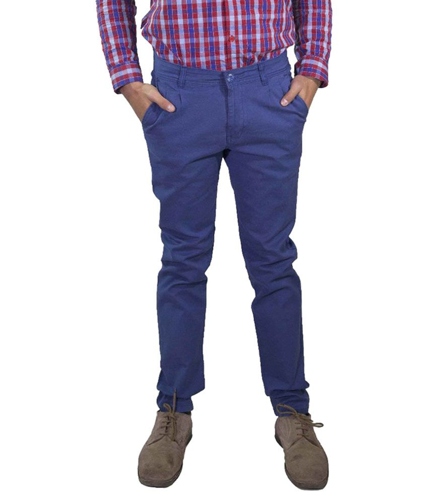 Rollister Blue Regular Fit Chinos