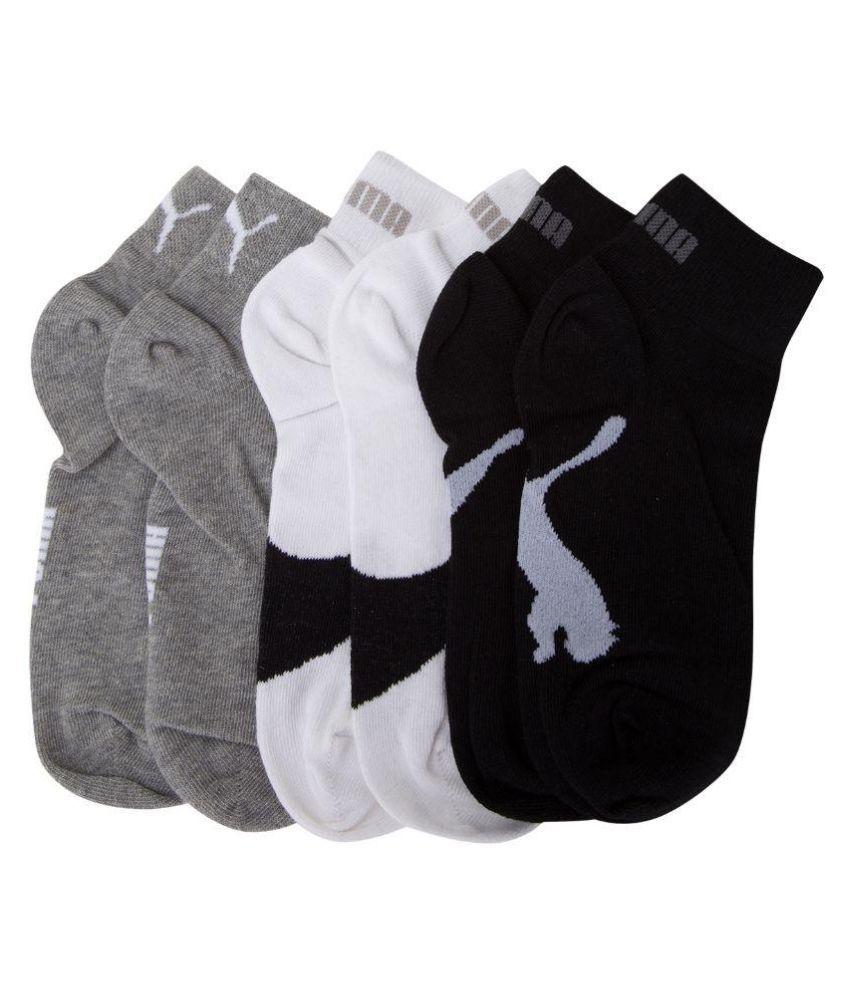 Puma Multicolour Cotton Ankle Length Sock - Pack Of 3