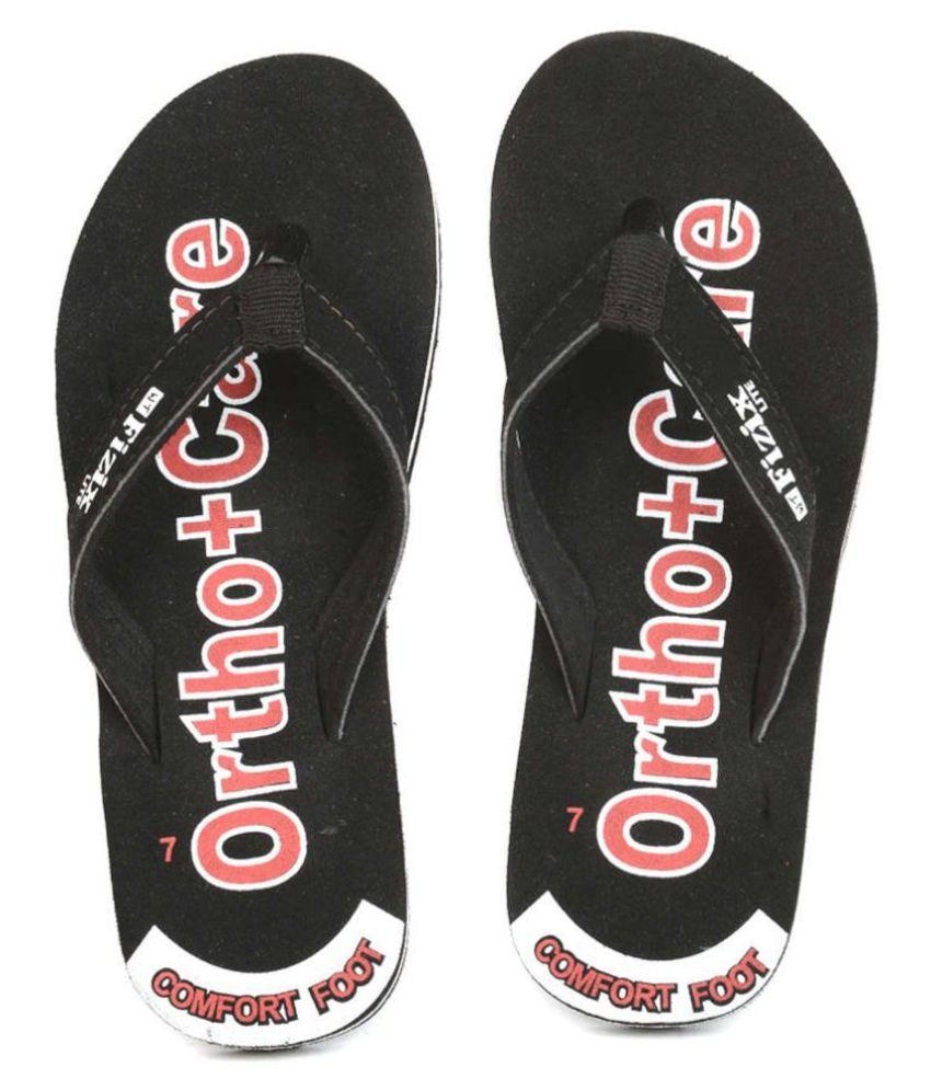 Frestol Black Flip Flops
