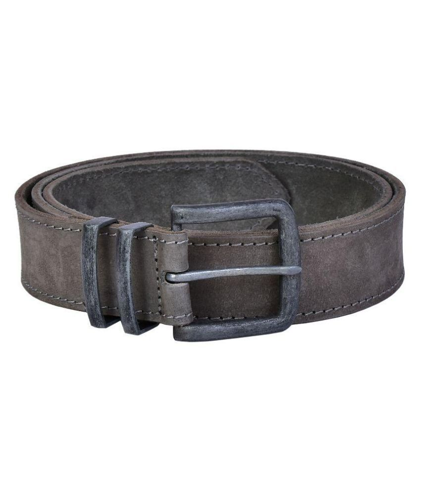 Lafaas Gray Leather Casual Belt for Men