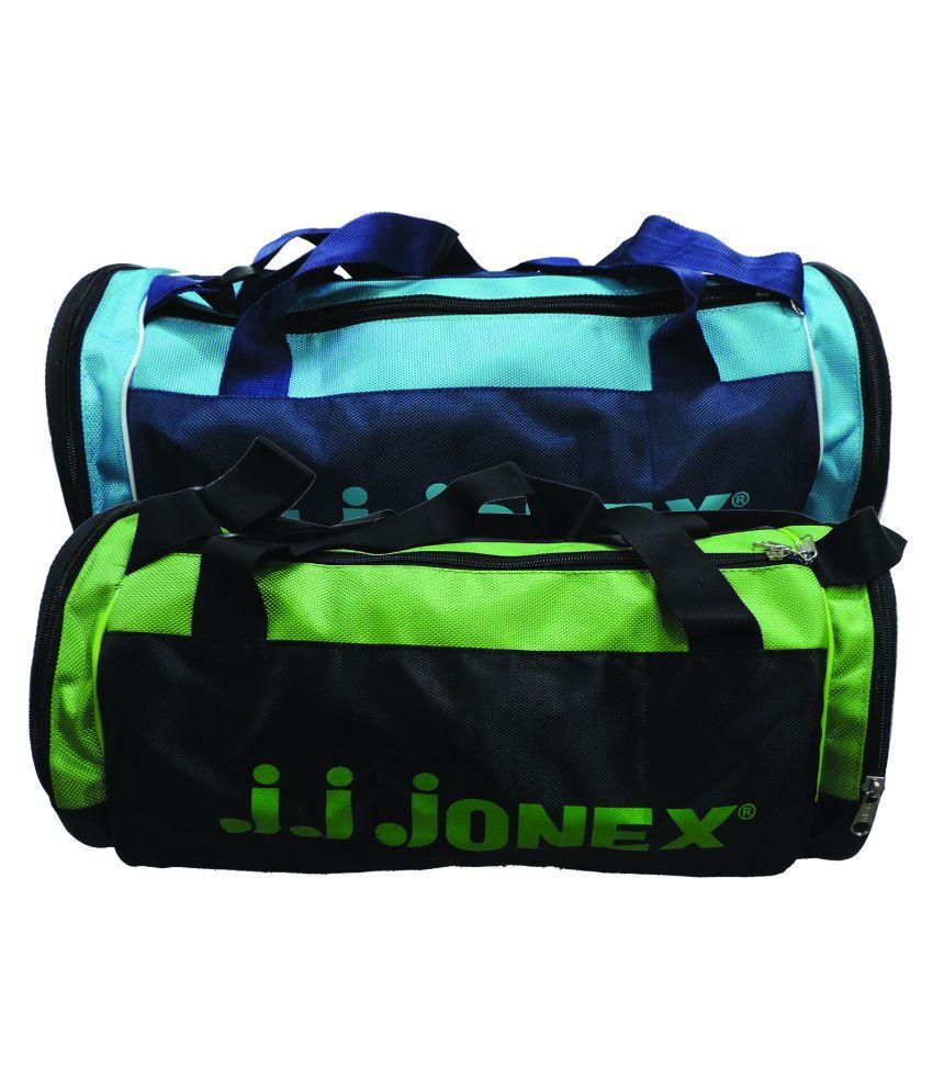 J.J Jonex Multicolour Synthetic Gym Bag - Pack of 2