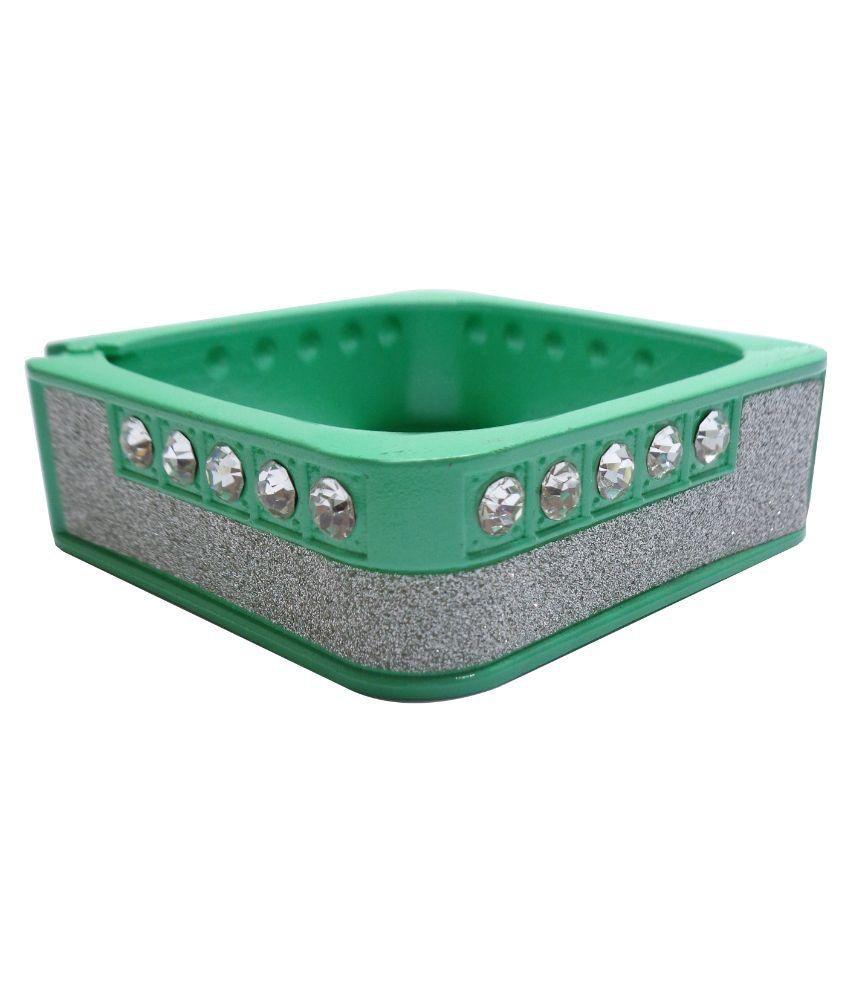 Trendz Plastic Studded Green Coloured Cuff