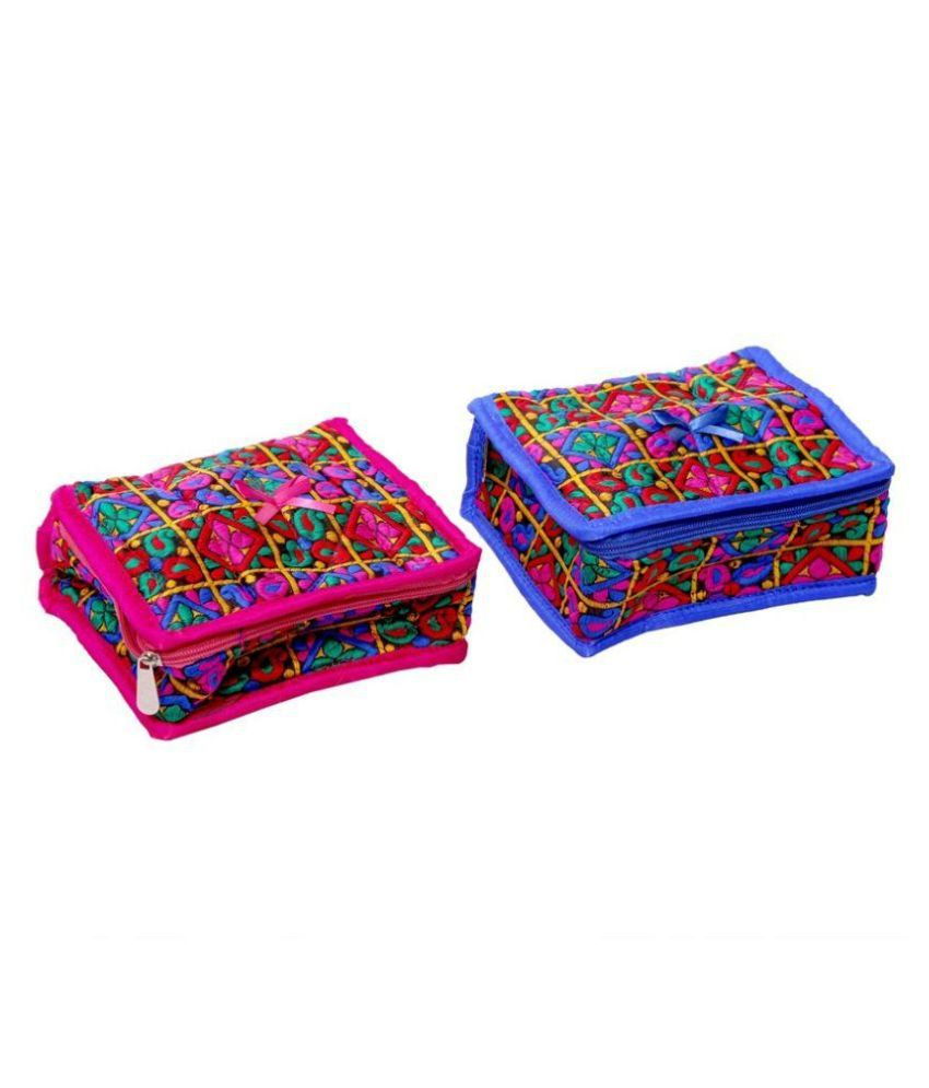 Kuber Industries Fabric  Multi Jewellery Kit Set of 2 Pcs
