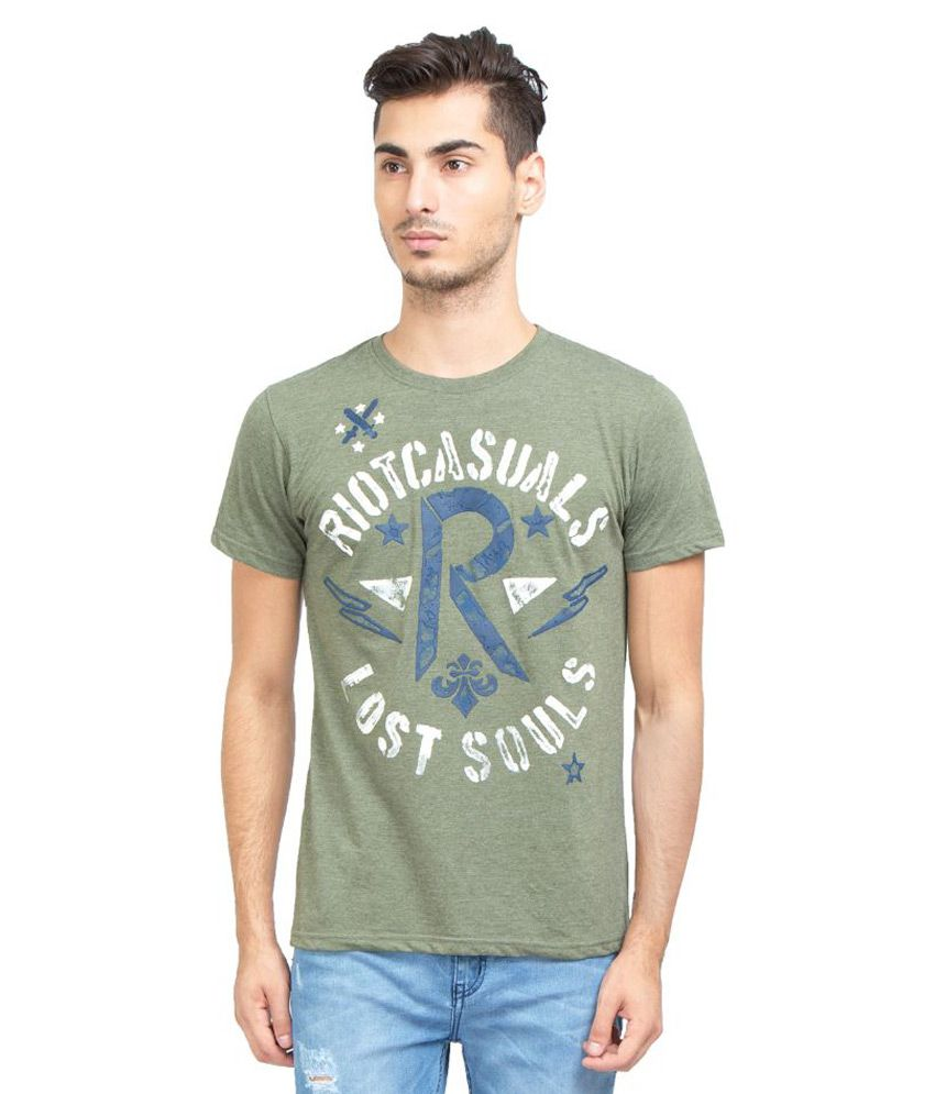 Riot Jeans Green Round T Shirt