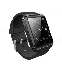 Bluetick U8 Black Smart Watch with Selfie Stick, Power Bank and Charging Adapter and Cable