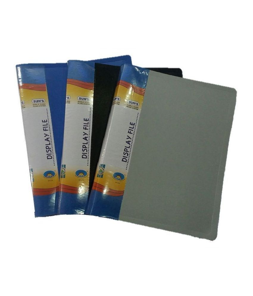 SUN'S Plastic Paper Cover 50 Pockets - Pack of 2