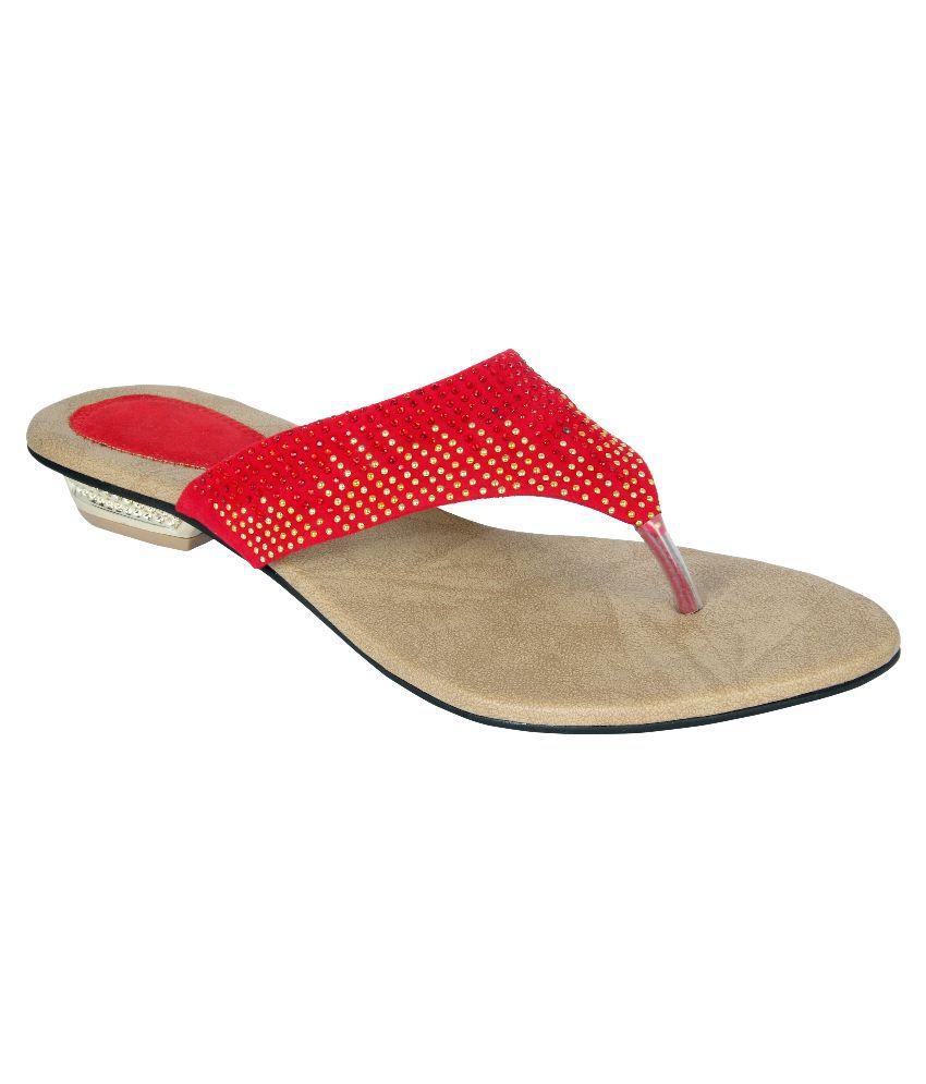 Jewel Red Flats