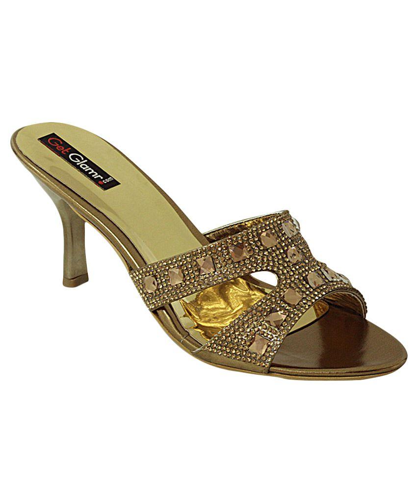 Get Glamr Brown Stiletto Heels