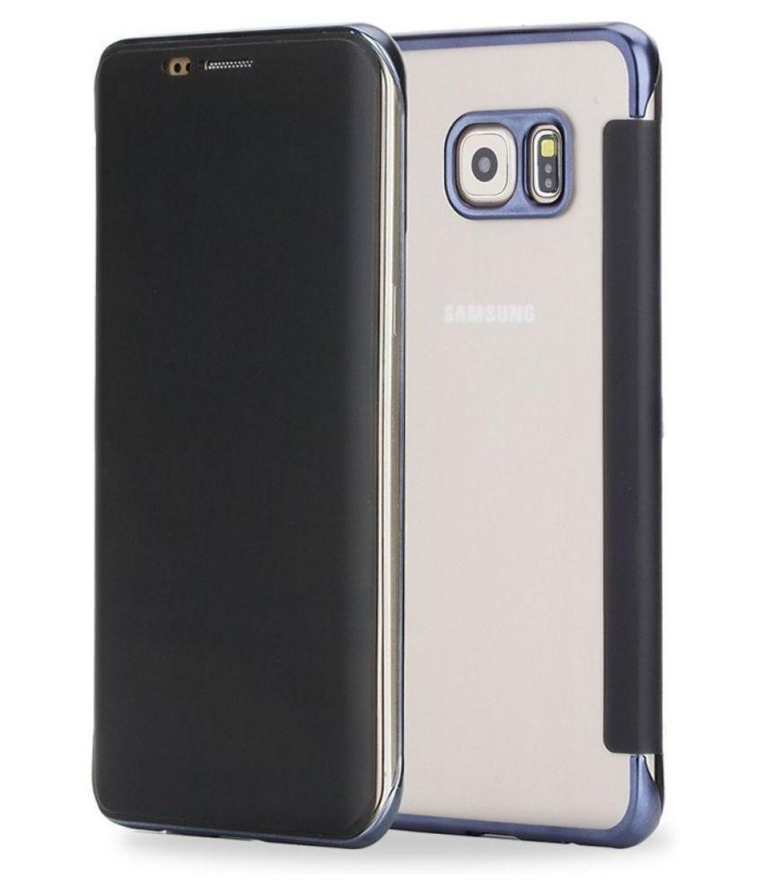 super popular 51957 7a8db Rock Flip Cover for Samsung S6 Edge Plus - DR.V Case  Electroplate(Black/Blue)
