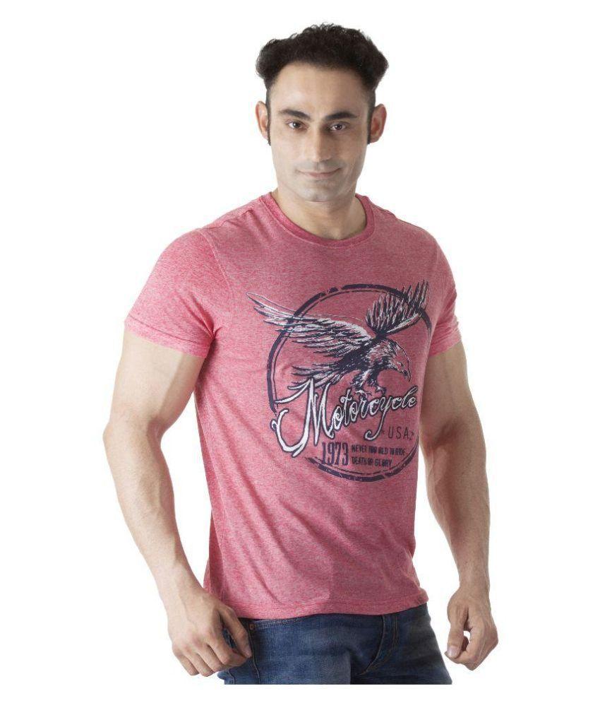 Ishwa Pink Round T Shirt
