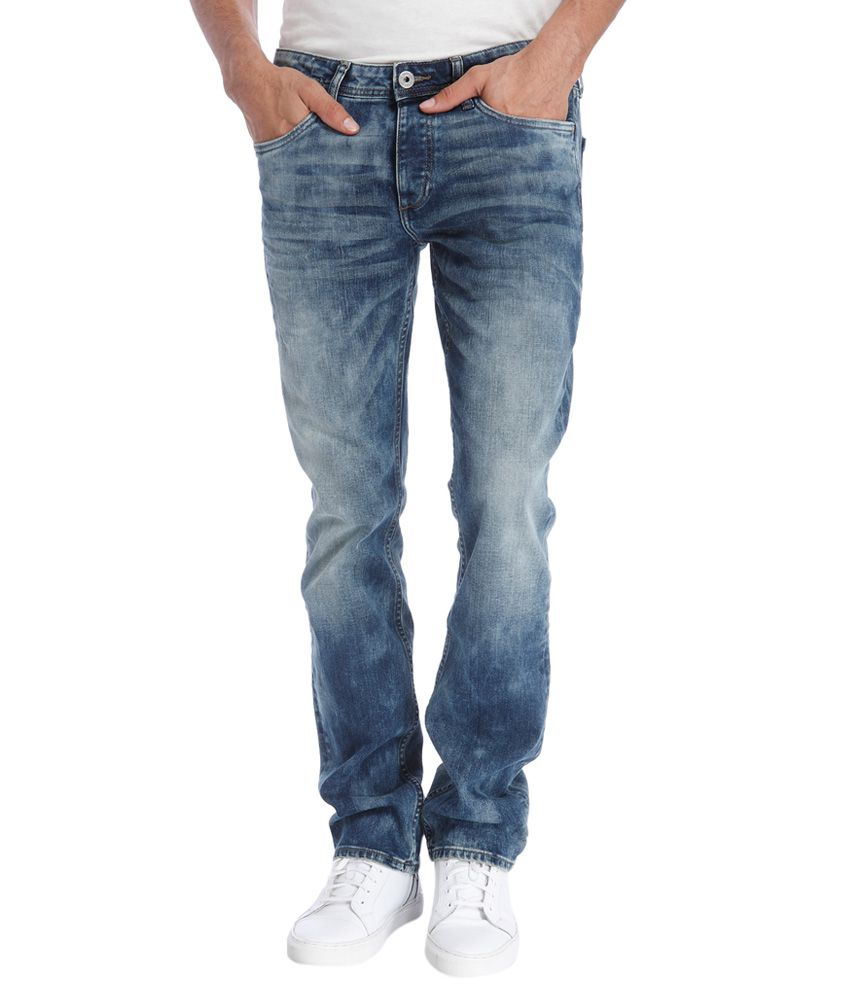 Jack & Jones Blue Regular Fit Faded Jeans
