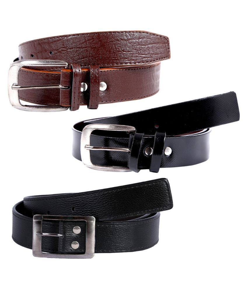 Hardy's Collection Multicolour Belt For Men - Pack of 3