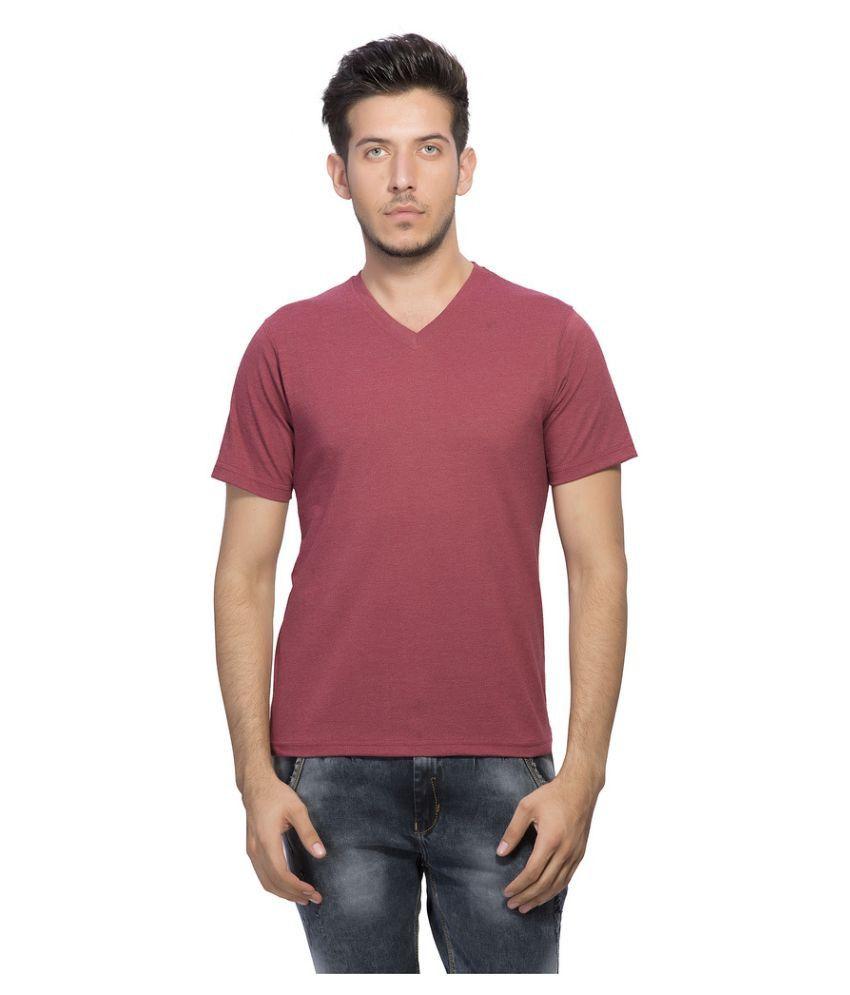 Clifton Maroon V-Neck T Shirt