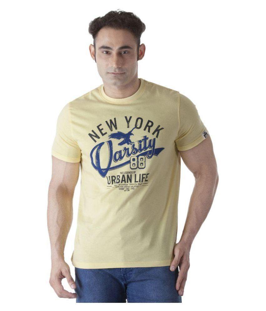 Ishwa Yellow Round T Shirt