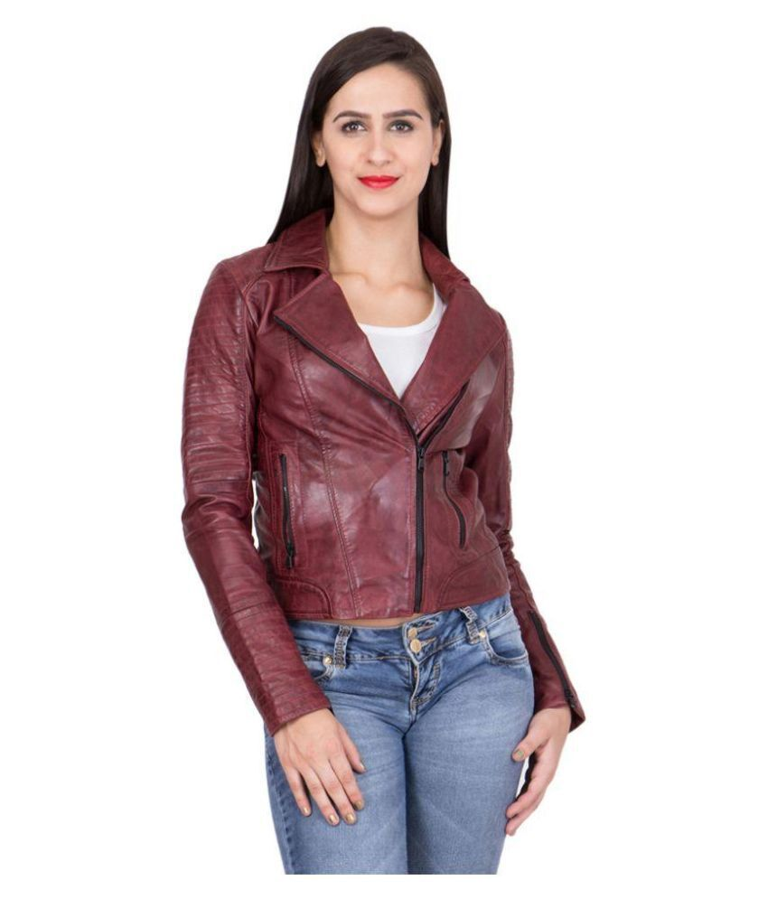 SLEEK CHOCOLATE BIKER WOMEN'S JACKET