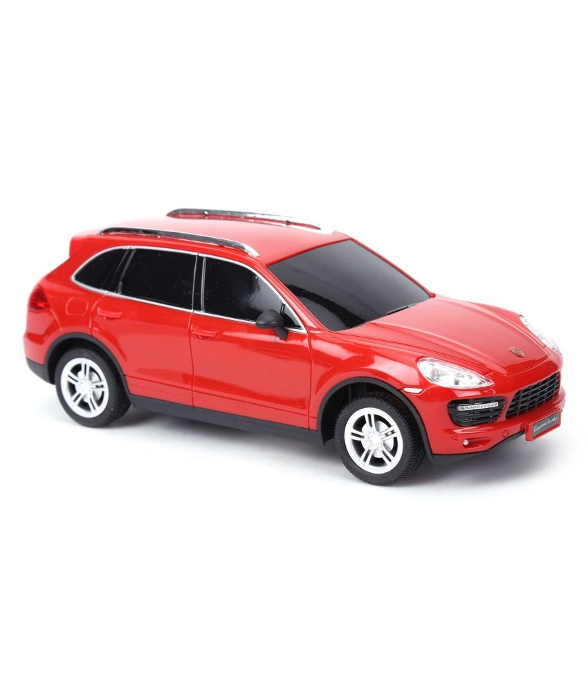 flipzon rc porsche cayenne turbo 1 24 rechargeable toy car red