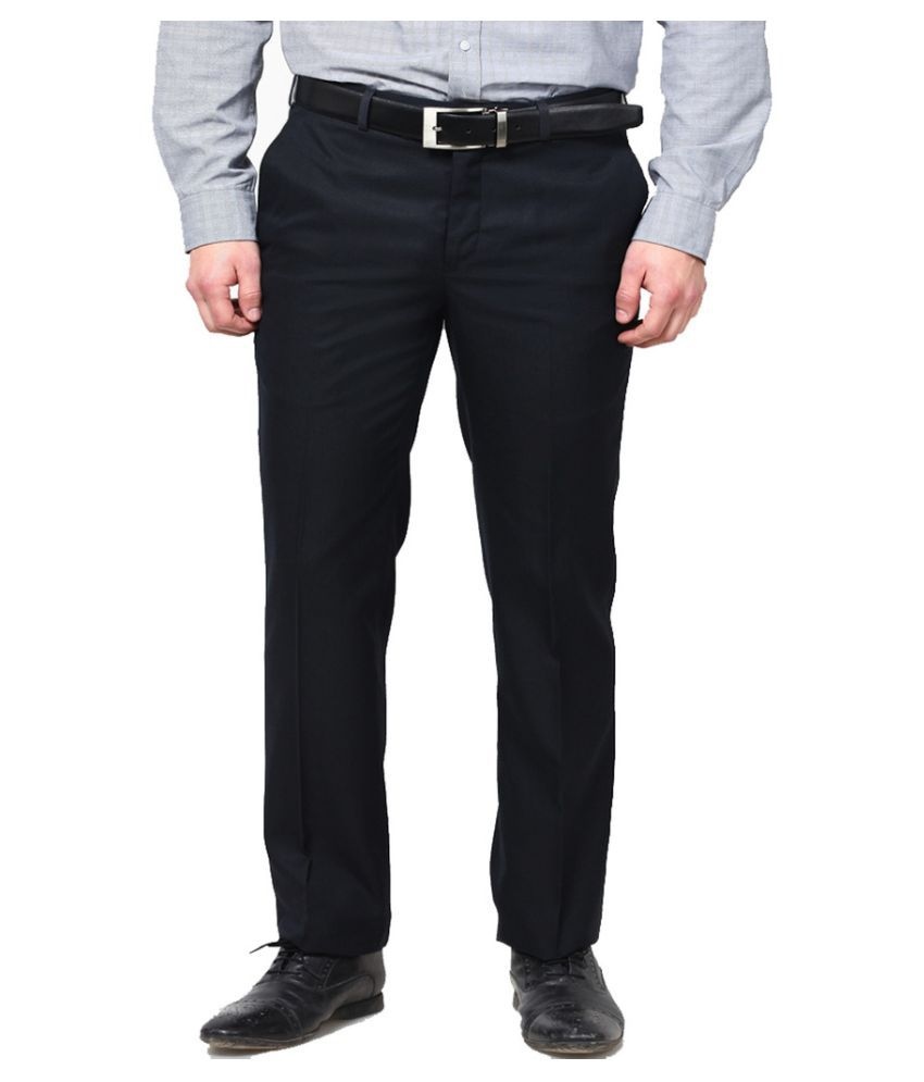 Lee Marc Black Regular Fit Flat Trouser