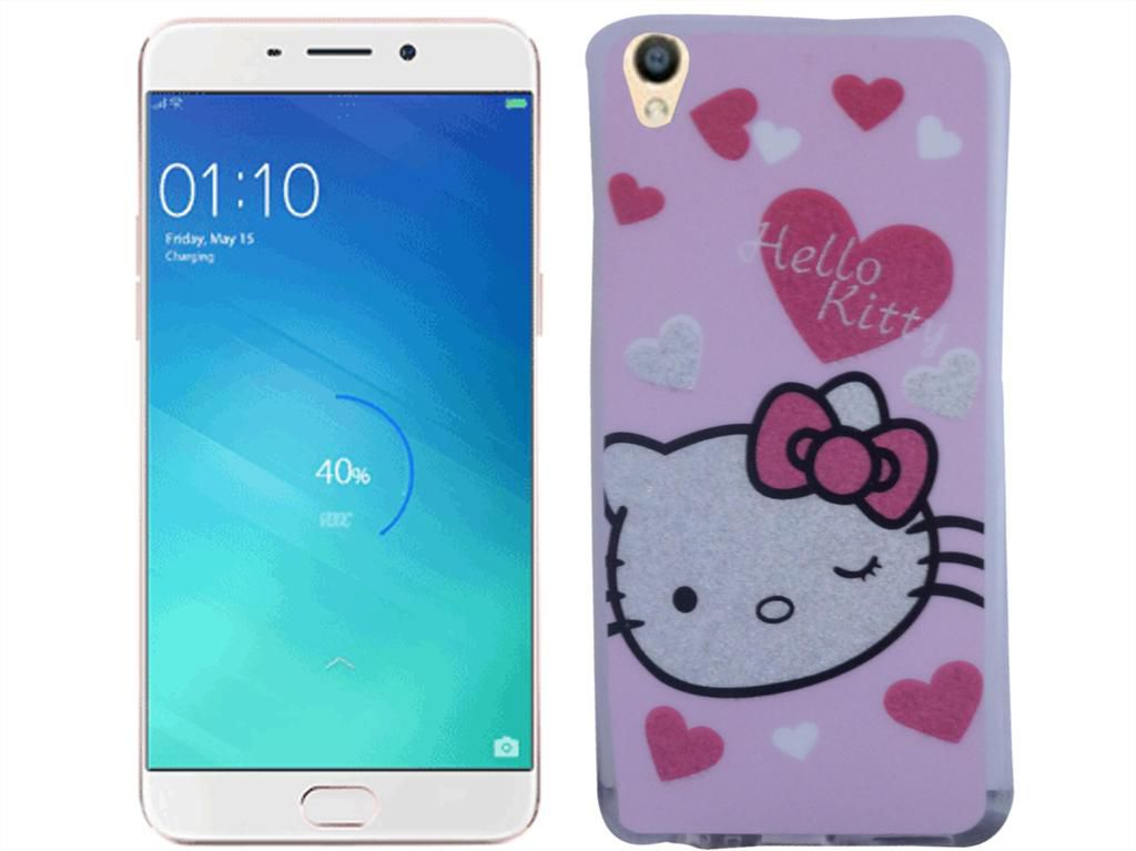 buy online 85ca7 8c41b Oppo F1 Plus exclusive Hello Kitty PU Printed Back Covers - Multi