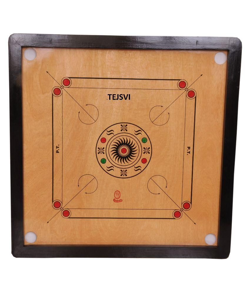 Tejsvi Multicolor Wooden Carrom Board