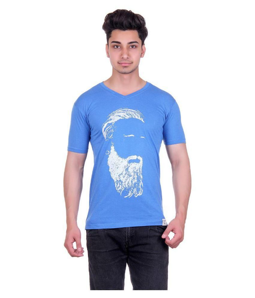 Urban Street Blue V-Neck T Shirt