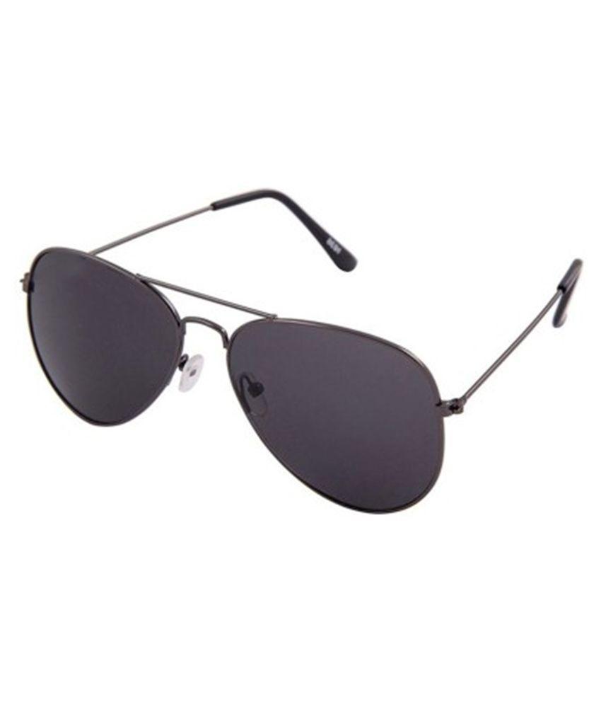 Flier Black Aviator Sunglasses ( FSG010 )